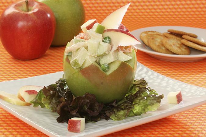 Ensalada Rusa con Manzana y Pollo