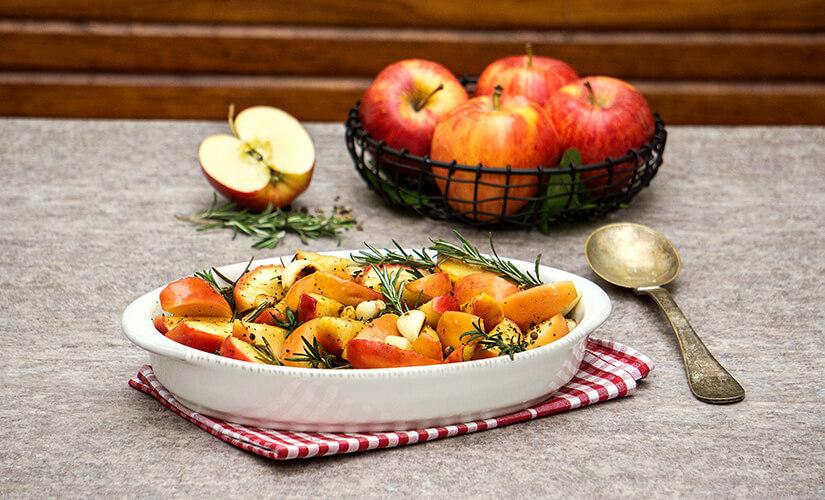 Manzanas Horneadas al Romero
