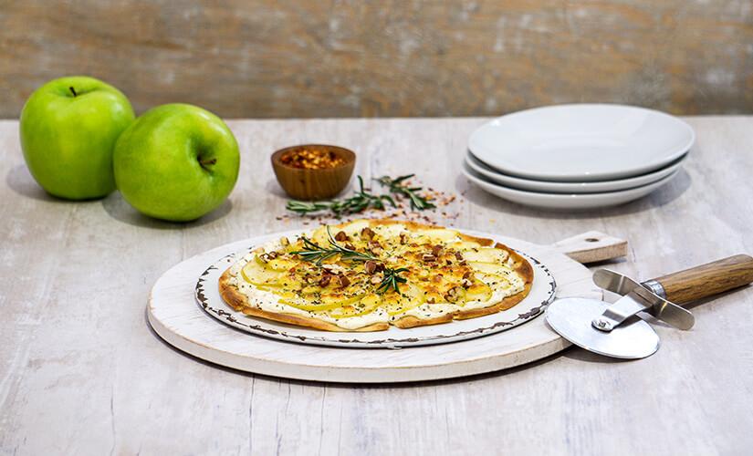 Pizzeta de Manzana y Quesos